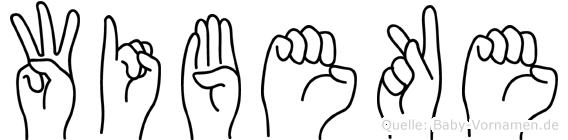 Wibeke im Fingeralphabet der Deutschen Gebärdensprache