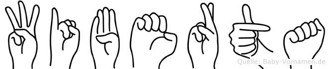 Wiberta in Fingersprache für Gehörlose