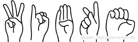 Wibke im Fingeralphabet der Deutschen Gebärdensprache