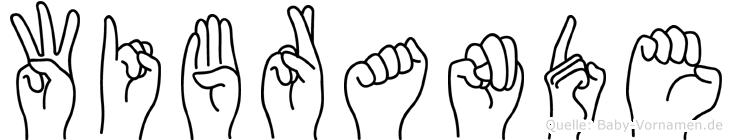 Wibrande im Fingeralphabet der Deutschen Gebärdensprache