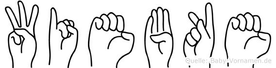 Wiebke im Fingeralphabet der Deutschen Gebärdensprache