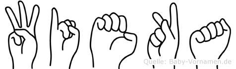 Wieka im Fingeralphabet der Deutschen Gebärdensprache