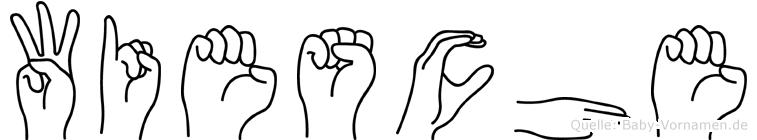 Wiesche im Fingeralphabet der Deutschen Gebärdensprache