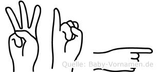 Wig in Fingersprache für Gehörlose