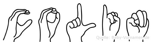 Colin in Fingersprache für Gehörlose