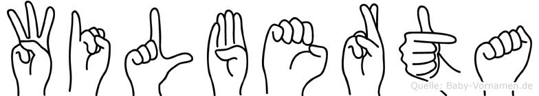 Wilberta im Fingeralphabet der Deutschen Gebärdensprache