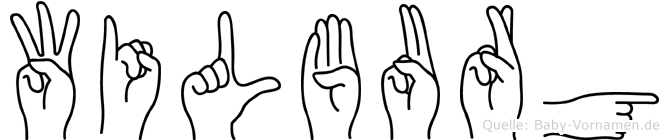 Wilburg im Fingeralphabet der Deutschen Gebärdensprache