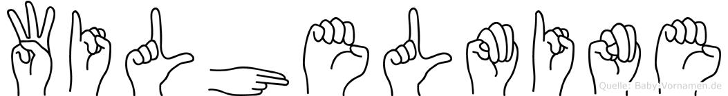 Wilhelmine in Fingersprache für Gehörlose
