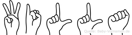 Willa im Fingeralphabet der Deutschen Gebärdensprache