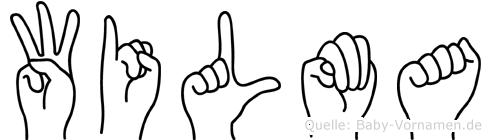 Wilma im Fingeralphabet der Deutschen Gebärdensprache