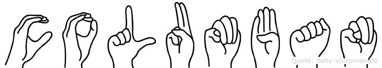 Columban in Fingersprache für Gehörlose