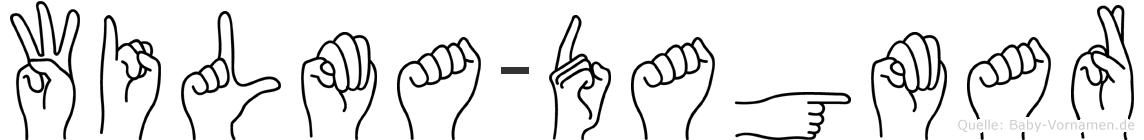 Wilma-Dagmar im Fingeralphabet der Deutschen Gebärdensprache