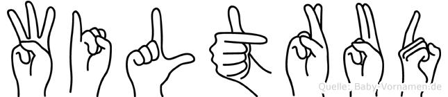 Wiltrud in Fingersprache für Gehörlose