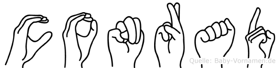 Conrad in Fingersprache für Gehörlose
