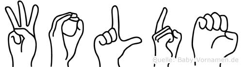 Wolde im Fingeralphabet der Deutschen Gebärdensprache