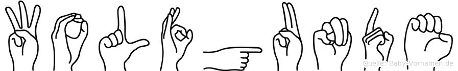Wolfgunde in Fingersprache für Gehörlose