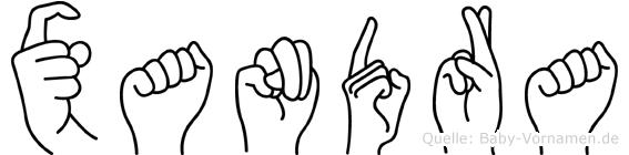 Xandra in Fingersprache für Gehörlose