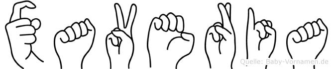 Xaveria in Fingersprache für Gehörlose