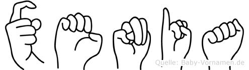 Xenia in Fingersprache für Gehörlose