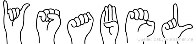 Ysabel in Fingersprache für Gehörlose