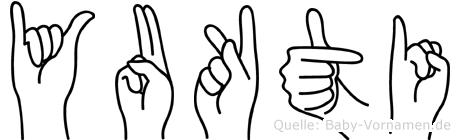 Yukti im Fingeralphabet der Deutschen Gebärdensprache