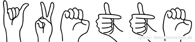 Yvette in Fingersprache für Gehörlose
