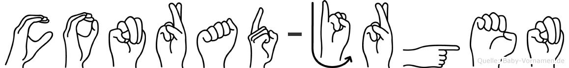 Conrad-Jürgen im Fingeralphabet der Deutschen Gebärdensprache