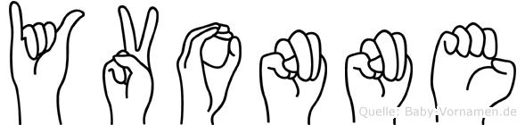 Yvonne in Fingersprache für Gehörlose