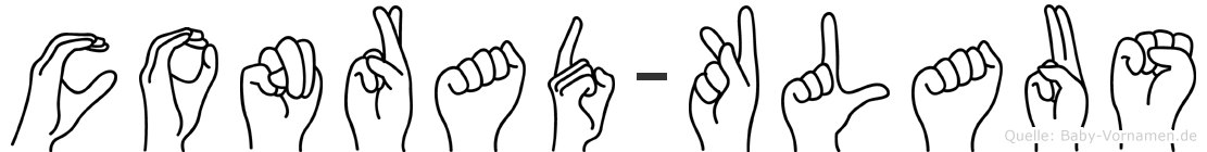 Conrad-Klaus im Fingeralphabet der Deutschen Gebärdensprache