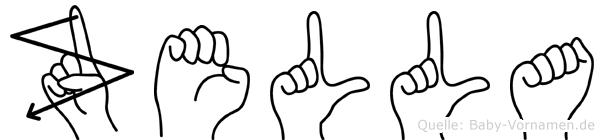 Zella in Fingersprache für Gehörlose