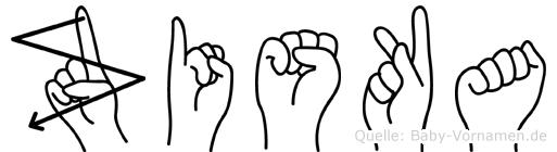 Ziska in Fingersprache für Gehörlose