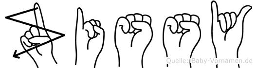 Zissy im Fingeralphabet der Deutschen Gebärdensprache