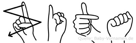 Zita in Fingersprache für Gehörlose