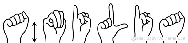 Ämilia in Fingersprache für Gehörlose