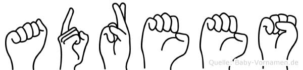Adrees in Fingersprache für Gehörlose