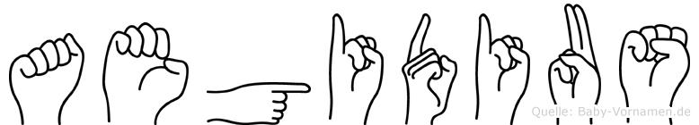 Aegidius in Fingersprache für Gehörlose