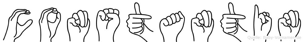 Constantin in Fingersprache für Gehörlose