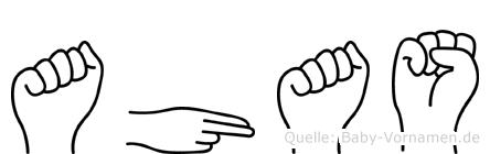 Ahas in Fingersprache für Gehörlose
