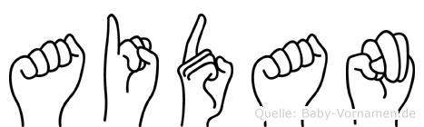 Aidan in Fingersprache für Gehörlose