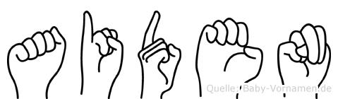 Aiden in Fingersprache für Gehörlose