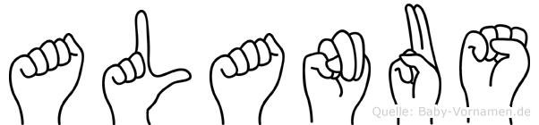 Alanus in Fingersprache für Gehörlose