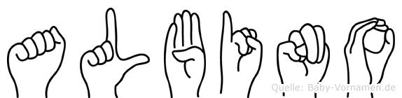 Albino im Fingeralphabet der Deutschen Gebärdensprache