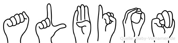 Albion in Fingersprache für Gehörlose