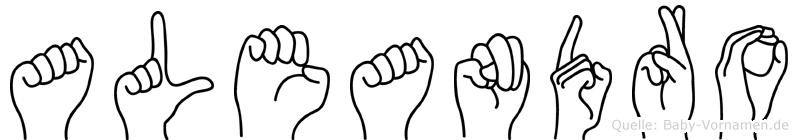 Aleandro in Fingersprache für Gehörlose