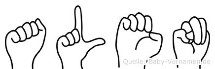 Alen in Fingersprache für Gehörlose