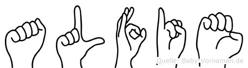 Alfie in Fingersprache für Gehörlose