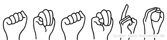 Amando in Fingersprache für Gehörlose