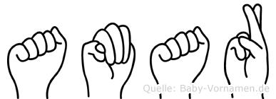 Amar in Fingersprache für Gehörlose