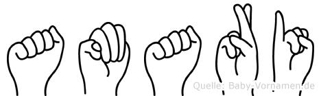 Amari in Fingersprache für Gehörlose
