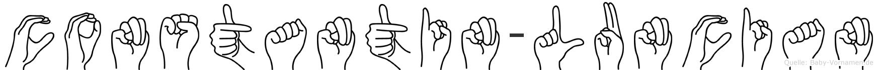 Constantin-Luncian im Fingeralphabet der Deutschen Gebärdensprache